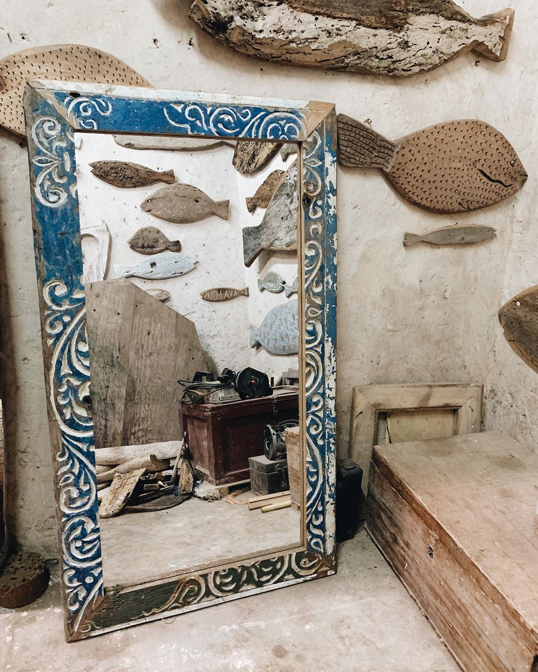 F4 Recycle dhow mirror: 1.7m x 0.75m $200 (20,000ksh)