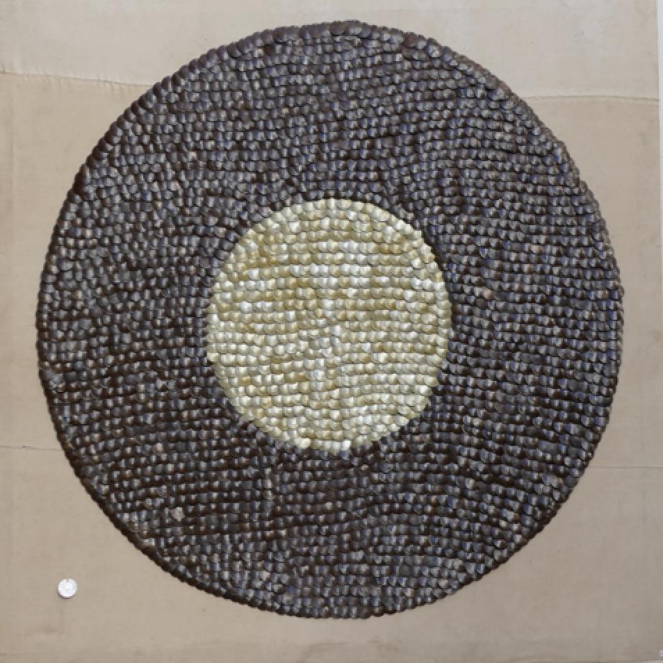 F5 Bottletop sun art on canvas: 1.4mx1.4m – $550 (55,000 Ksh)