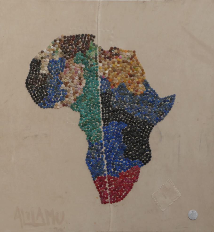 F5 Bottletop Africa art on canvas: 1mx1.4m – $380 (38,000 Ksh)
