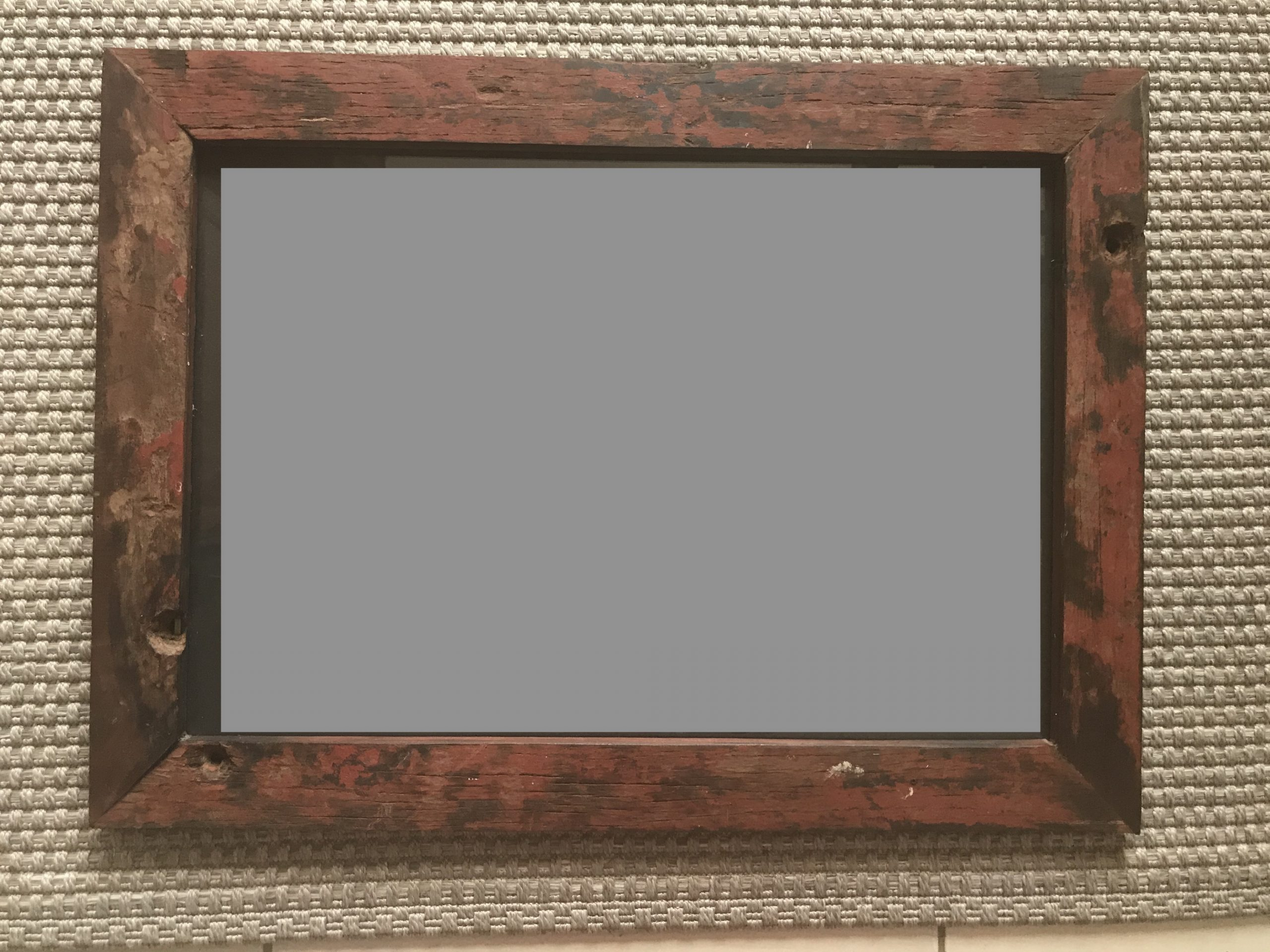F2 Distressed mirror frame: Small 25cm wide –  $40 (4,000 Ksh) Medium 50cm wide -  $50 (5,000Ksh) Large 70cm wide - $50 (5,000 Ksh)